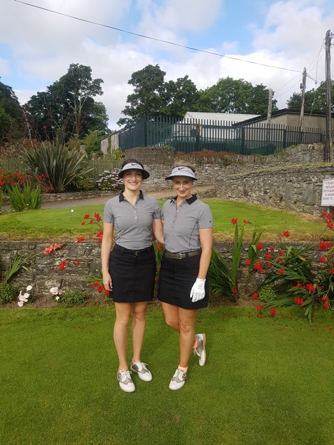 Sister tournament competitors at Kenmare golf club